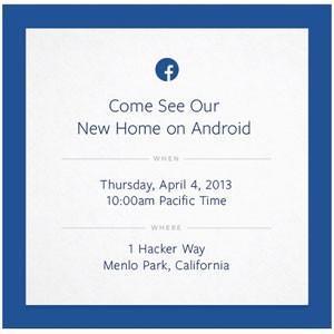 Facebook enviou convites para evento ondefalará sobre o Android (Foto: Reprodução)