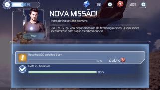 Homem de Ferro 3 - ao completar uma missão