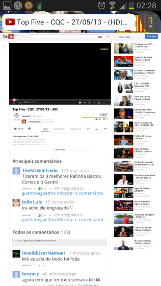 Youtube, página Desktop.
